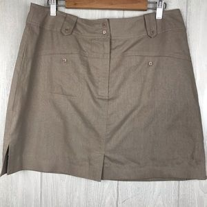 Jamie Sadock linen blend athletic skirt skort